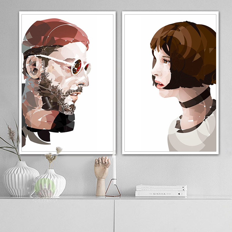 painting by numbers art paint by number LeonThe Professional Jean Reno Natalie Portman hand Diy digital coloring painting deco