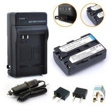 1 * 2000 mAh NP-FM50 FM50 FM55H + batería + cargador + adaptador de enchufe para Sony NP-FM51 NP-FM30 NP-FM55H A100 envío gratis