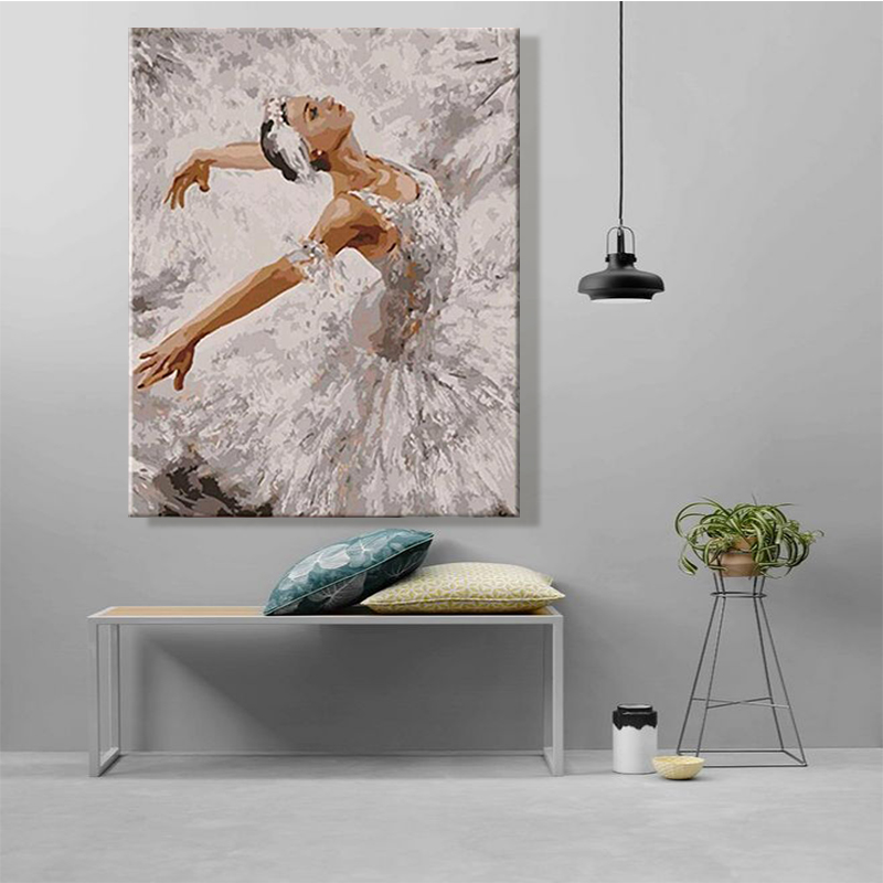 Paint By Number Art Painting By Numbers Artwork Ballet Dance Grace Beautiful Bedroom Decorative Hanging Pictures  Handmade