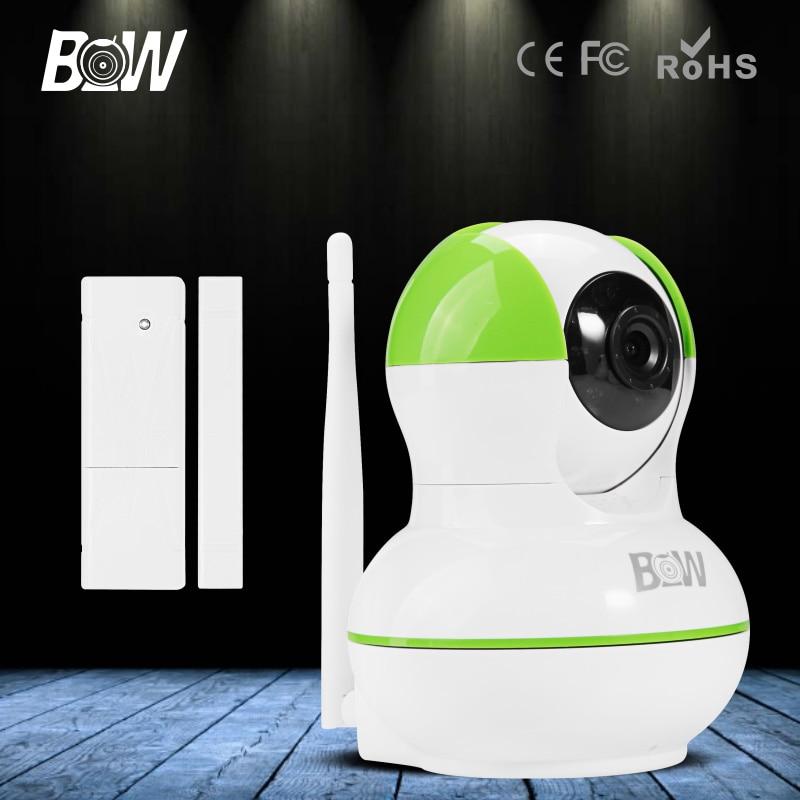 HD 720P Wireless IP font b Camera b font P2P font b Door b font Sensor