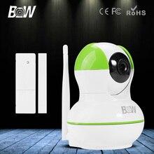 HD 720 P Cámara IP P2P + Sensor de Puerta Inalámbrico Wifi IR-Cut Visión Nocturna de Seguridad CCTV Video Vigilancia Onvif P/T 3.6mm endoscopio