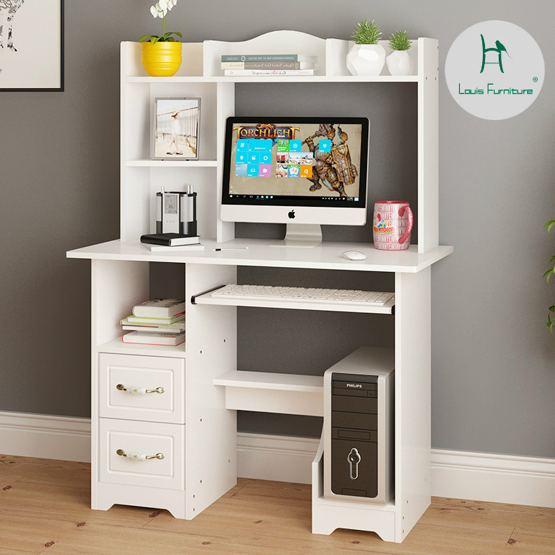 US $35.9 |Louis Fashion Computer Desks Household Bedroom Simple Multi  function Bookshelf Combination-in Computer Desks from Furniture on  AliExpress