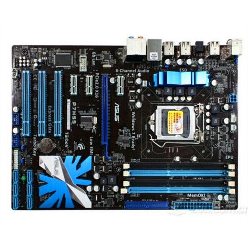 Материнская плата для настольного компьютера Asus P7H55, H55, разъем LGA 1156, i3, i5, i7, DDR3 16 ГБ, ATX, UEFI BIOS, оригинальная б/у материнская плата, распродажа