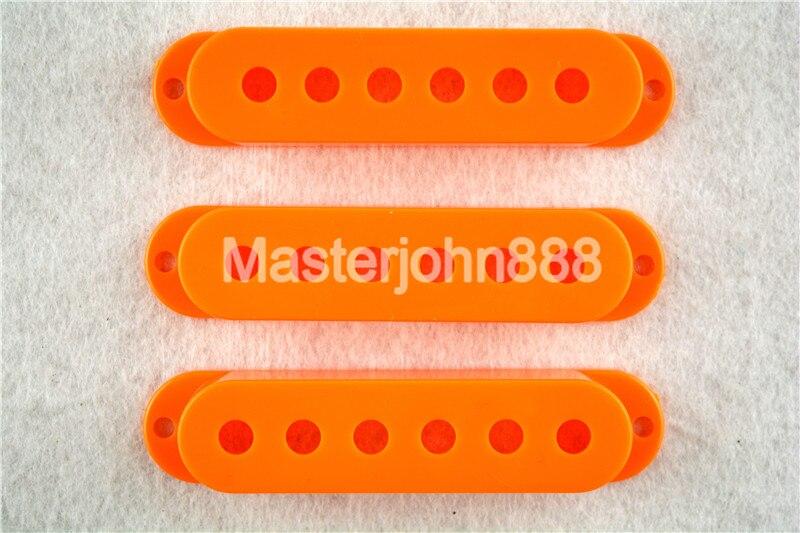 1 Set of 3pcs Orange Single Coil Pickup Covers For...