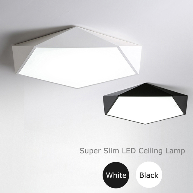 Nordic Led Ceiling Lamp 5cm Thin Modern Lights Super Bright Luminaire Acryl Alloy