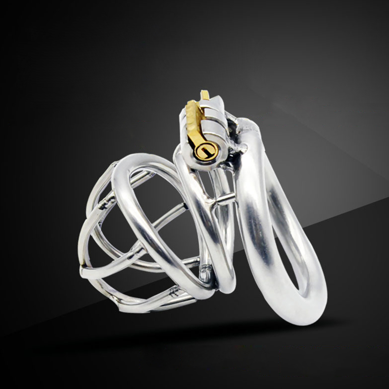 2017 New male chastity device arc ring lock cock cage cb6000s penis bondage stainless steel metal cages devices sex toys for men wearable penis sleeve extender reusable condoms sex shop cockring penis ring cock ring adult sex toys for men for couple