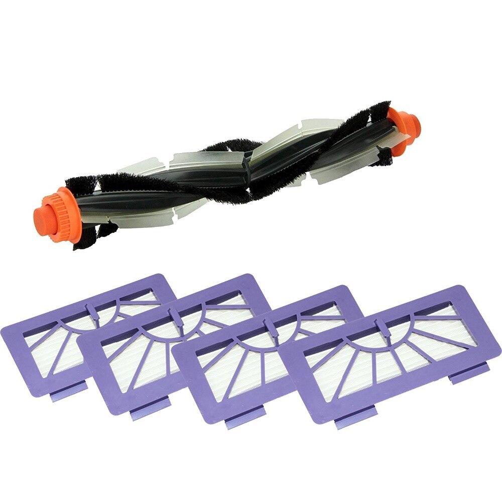 Replacement Vacuum Cleaner helical Combo Brush Hepa Filter for Neato XV-11, XV-12, XV-14, XV-15, XV-21, XV-25, XV Signature