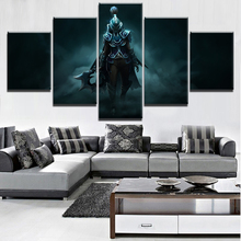 Wall Art Canvas Painting Printed Game Poster HD Print Decorative Picture Home Living Room DOTA 2 5 Piece