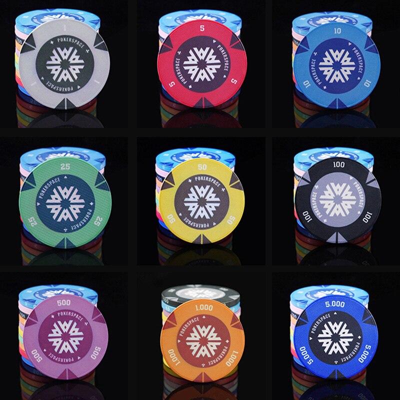 10 PCS/LOT NEW Design Poker Chips 9.5g Ceramic Top Quality Luxury Chips Texas Holdem Poker Wholesale