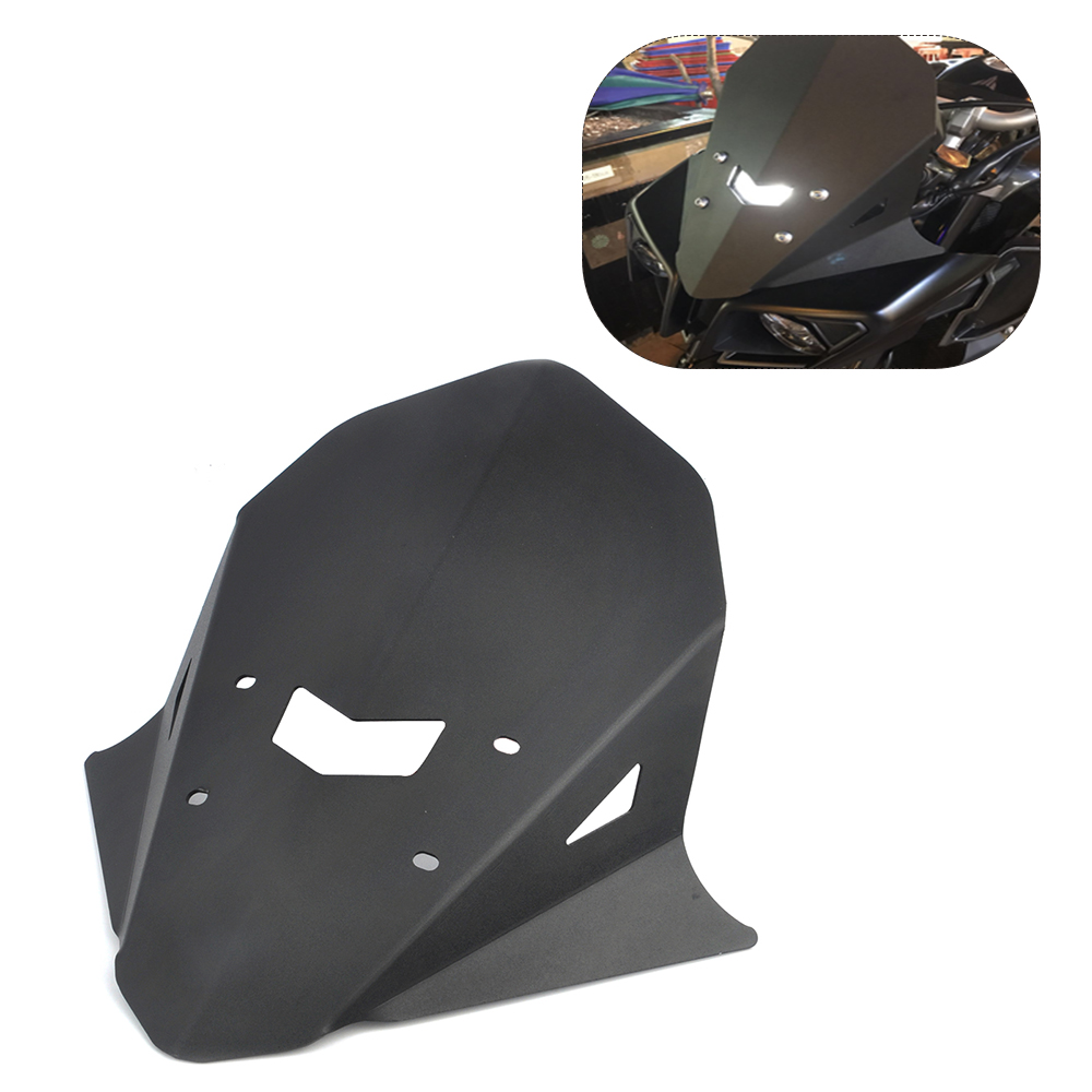 KEMiMOTO Motorcycle Accessories Windshield Windscreen Aluminum For Yamaha MT-10 MT10 2016 2017
