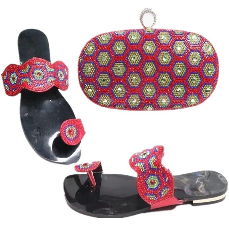Verziert In Schuhe Farbe Grüne Und Frauen Italienische grün fuchsia Italien Damen Schuh silber Mit Himmel Set Tasche Strass Nigerian gold blau xvqwSnY6q