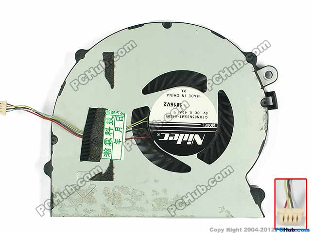 Nidec G70N05NS5MT-57T02 DC 5V 0.40A Server Laptop Fan