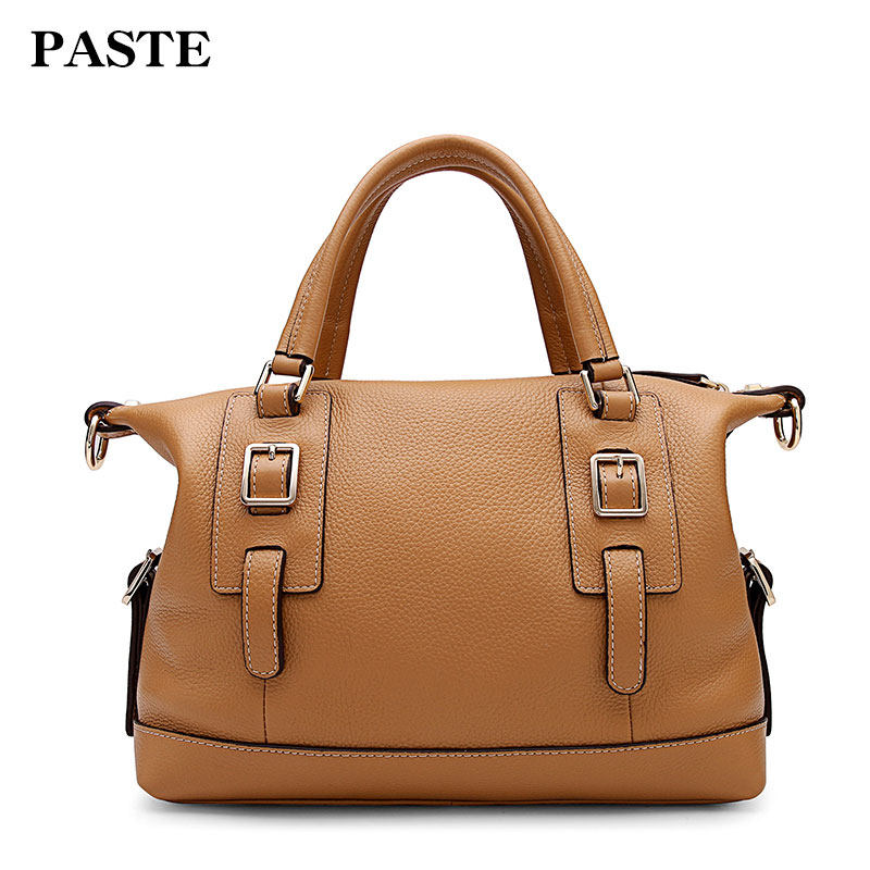 PASTE new fashion genuine leather bags women bag shoulder bag crossbody bag designer handbags 7p1119 brown/black