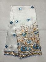 2017 Высокое качество Африканский Джордж обертка 5 ярдов Африки кружевной ткани Высокое качество индийского шелка Джордж кружевной ткани b5 22