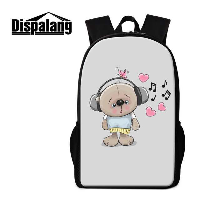Dispalang Men Women Backpacks Cute Cartoon Beer Print School Bags Girls  Rucksack Music College Student Book Bag Mochila Feminina 6b724403787e4
