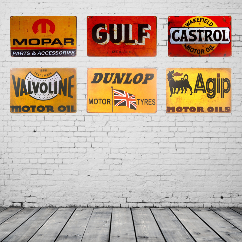 Valvoline Mopar Vintage Tin Signs Retro Metal Plate Painting Wall Decoration for Bar Home Club Pub and So on 30CM*20CM
