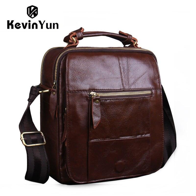 Vintage genuine leather bag mens