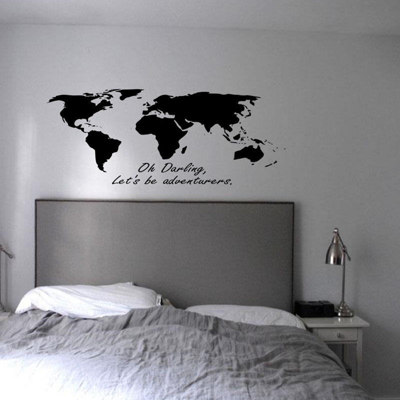 DCTOP Oh Darling Let S Be Adventurers Wall Decals Bedroom Vinyl Adhesive  World Map Wall Stickers Home. Popular Adventure Wall Decals Buy Cheap Adventure Wall Decals lots