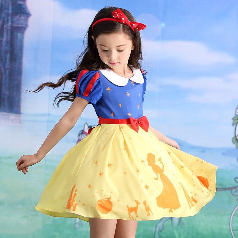 Children Girl's Dress Kids' Wearing New Kids Snow White Pants Puff Girls Dolls Dresses yallo kids