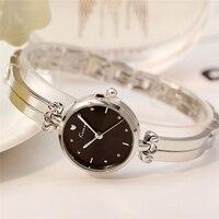KIMIO Women S Quartz Dress Watches Luxury Brand Ladies Silver Bracelet Watch Waterproof Girl Wristwatch Clock