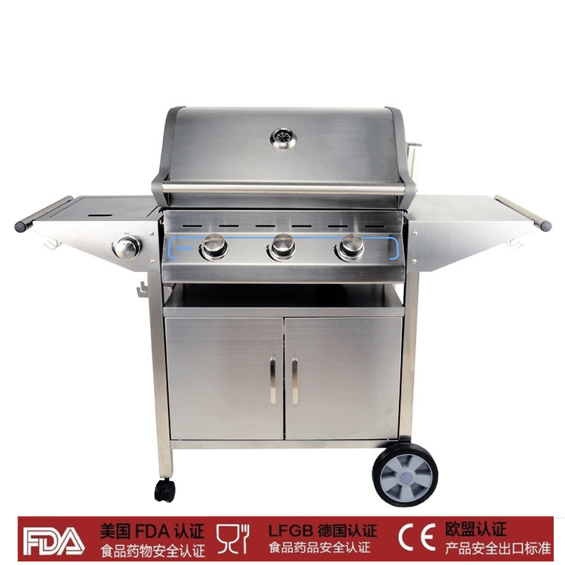Outdoors Gas Charcoal Barbecue Oven Gaiabbq Furnace Stainless Steel Frame Carbon Dual Purpose In Bbq Grills From Home Garden