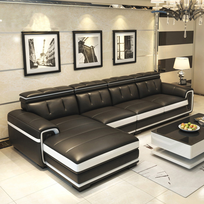 Leather Sofa Simple Living Room