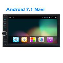 EinCar Car Stereo GPS Navigator 2 Din Android 7.1 FM/AM Car Radio Stereo Touch Screen Bluetooth USB SD Colorful LED Button Light