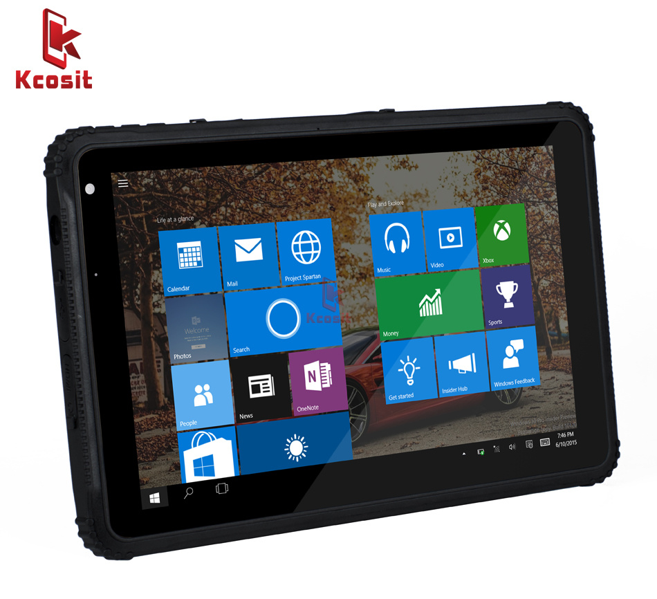 China Rugged Windows Tablet 10 Pro military Industrial Tablet PC 10.1 tough Waterproof Phone Android Ublox GNSS GPS 4G LTE image