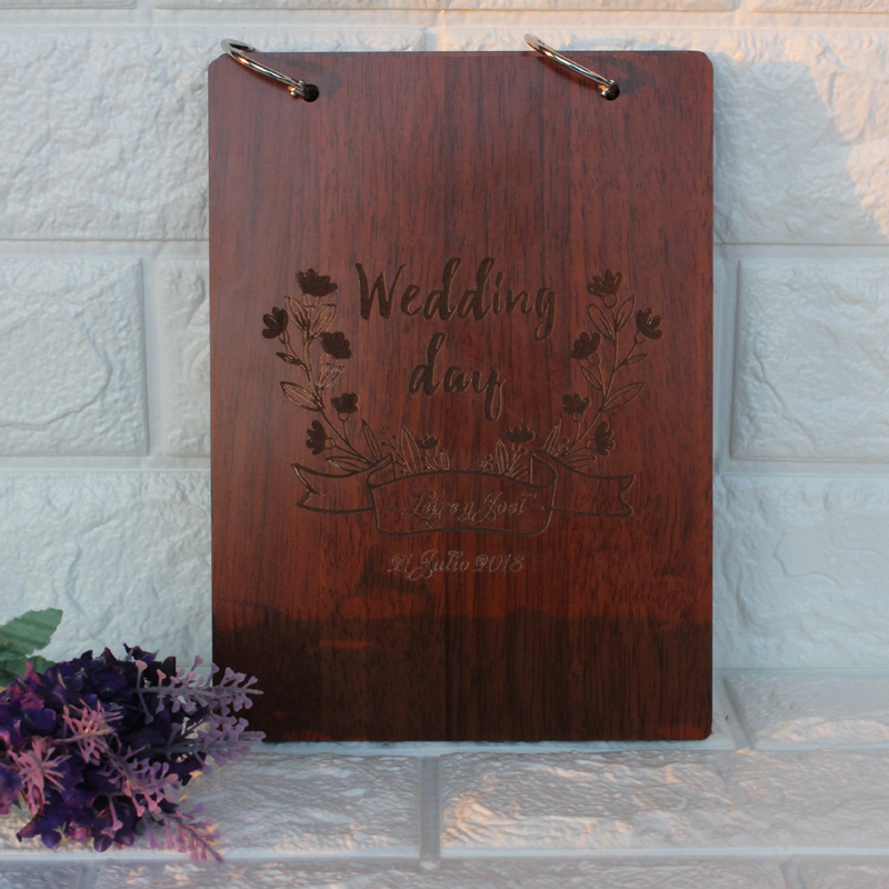Custom Wedding Guest Book ,Personalized Names Guestbook , Wedding Guestbook, Wooden Sign Book, Engraved Guest Book