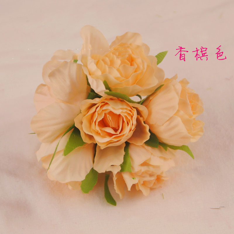 artificial rose flowers 5cm wire flowers for wedding decoaration ...