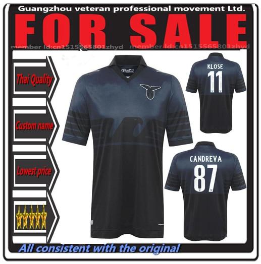 54f895f9b New 15 16 LAZIO 2015-2016 EUROPA SHIRT Top Thailand quality LAZIO 2016 away  Black Klose Candreva Cavanda soccer jersey