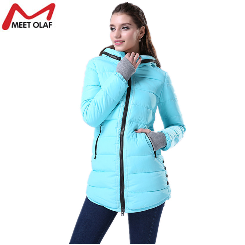 Winter Coat Women Parka 2017 Hooded Warm Cotton Padded Girl Student Long Jackets Overcoat abrigos mujer invierno chaquetas YL007 new vogue abrigos mujer invierno nice coat women winter padded jacket cotton padded parka solid color hooded parkas tt1115