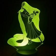 Princess Tangled Decorative Kids LED night lights Children Bedroom Decor Best Cool 3D Night Lamp USB Battery Nightlight Rapunzel