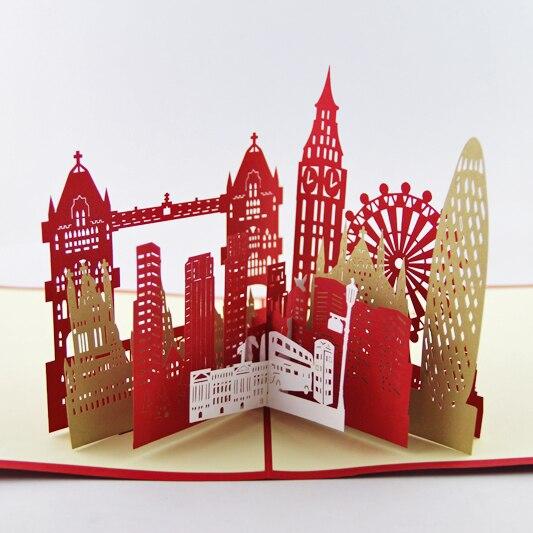 La Carte Silhouette De La Ville De Londrescarte Kirigami 3dcartes