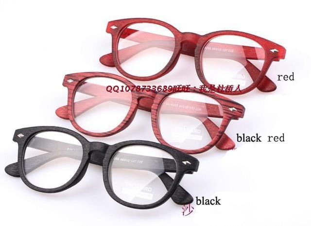 db131e9a296e2 7 kolory Nity Faux Drewniane Okulary do czytania Óculos de grau feminino  Kobiety Vintage okulary clear