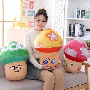 New 1pc 50*38CM Lovely Mushroom Stuffed Dolls Plush Toys inch Super Mario Mushrooms Dolls For Girls gifts