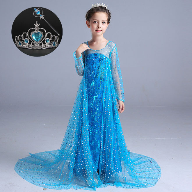 Children Summer Long Sleeve Sequins Tulle Disguise Shimmer and Shine Cosplay Girl Costume Kids Birthday Party Dresses for Girls
