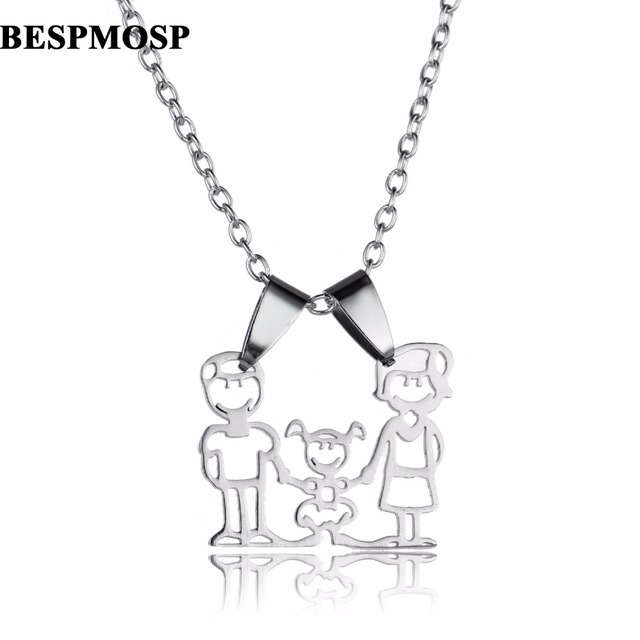 Warm family necklaces jewelry mom dad daughter pendants stainless warm family necklaces jewelry mom dad daughter pendants stainless steel chain necklace mothers fathers gifts girls aloadofball Images