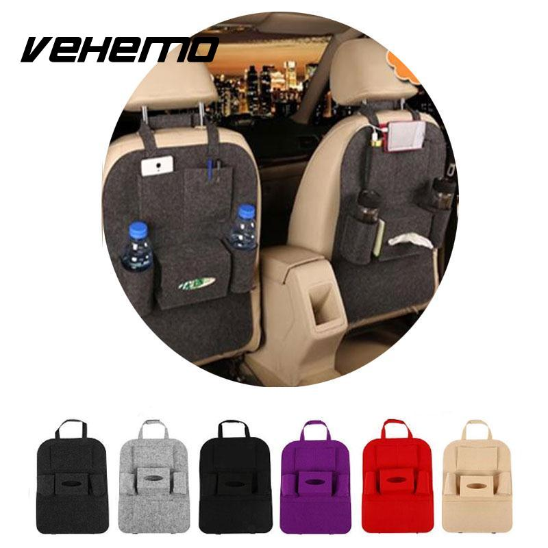 Vehemo Auto Car Seat Back Storage Bag Organizer Multi Pocket Travel Storage Bag Hanger Large Capacity