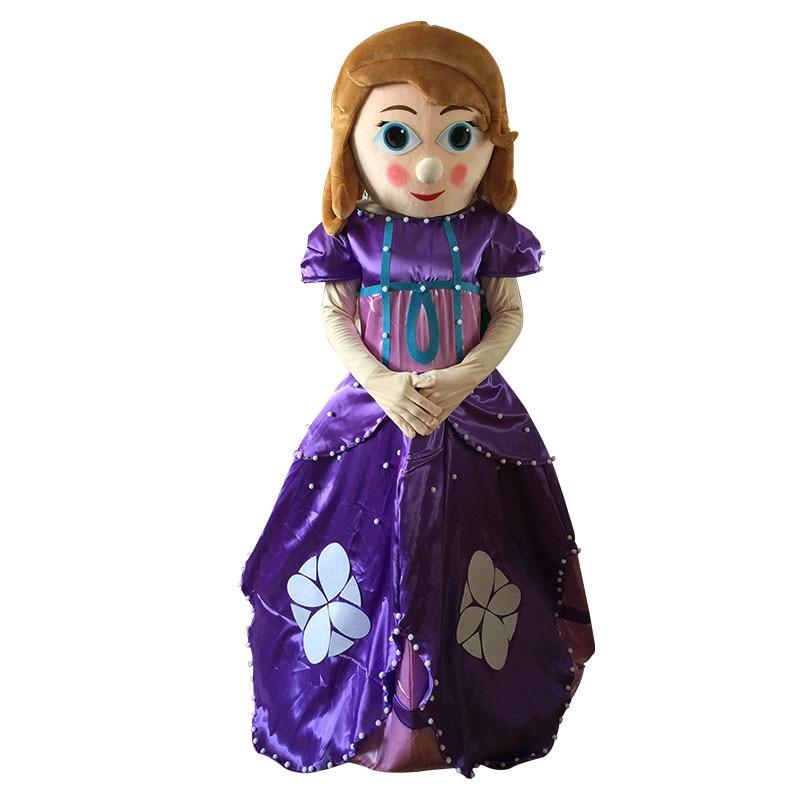 Sophia Princess Mascot Costume Sofia the First Halloween Party Dress Adult