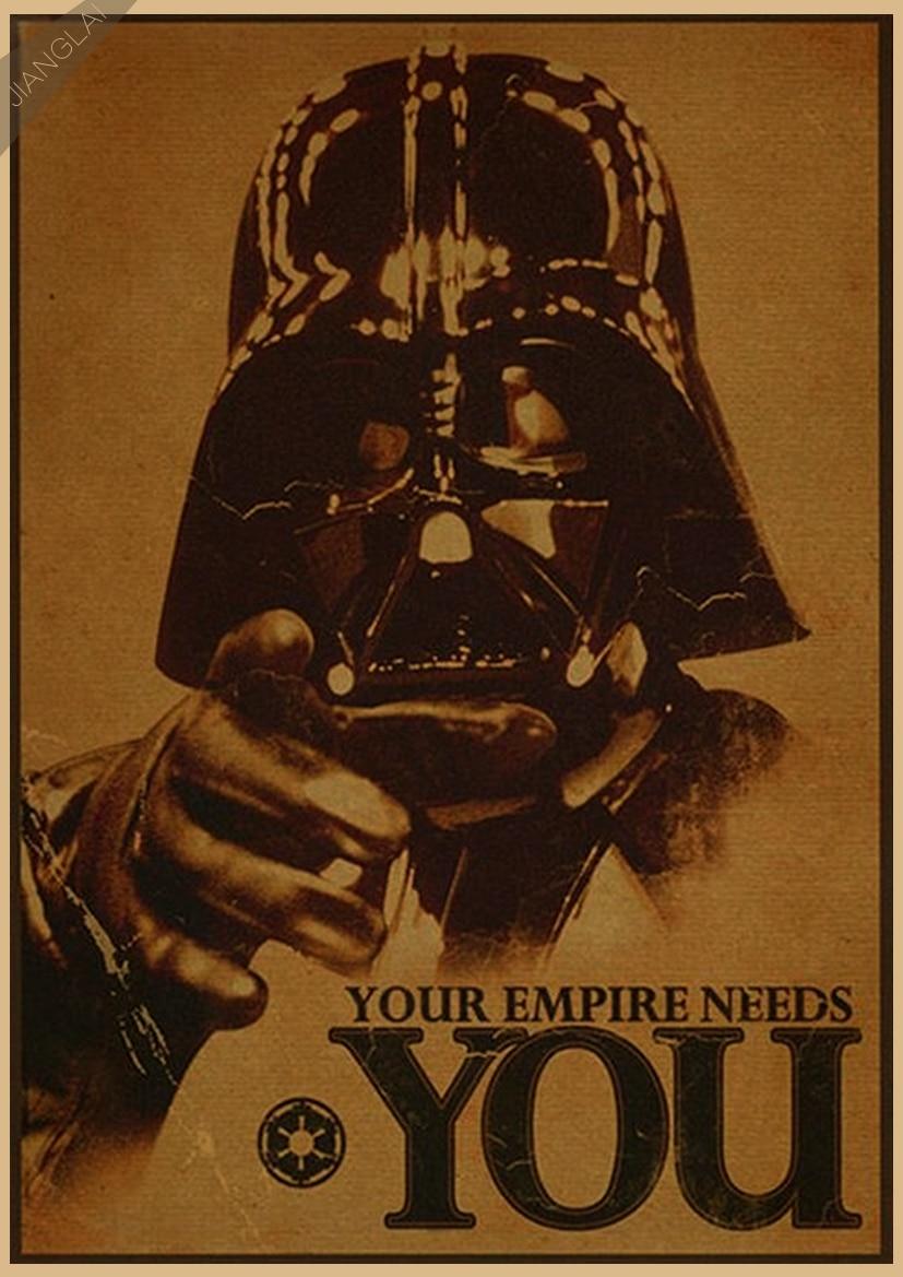 Vintage Star Wars Αφίσα Ρετρό τέχνης Τοίχο - Διακόσμηση σπιτιού - Φωτογραφία 6