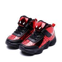 Dessin animé Spiderman enfants garçons Sport baskets enfants brillant enfants chaussures Chaussure Enfant filles chaussures Sport en cours d'exécution en cuir