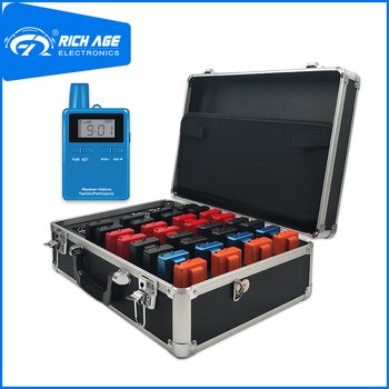 RichiTek Business Tour Guide System Mini 2 Transmitters+30 Receivers For Tour Guide With Condenser Microphone