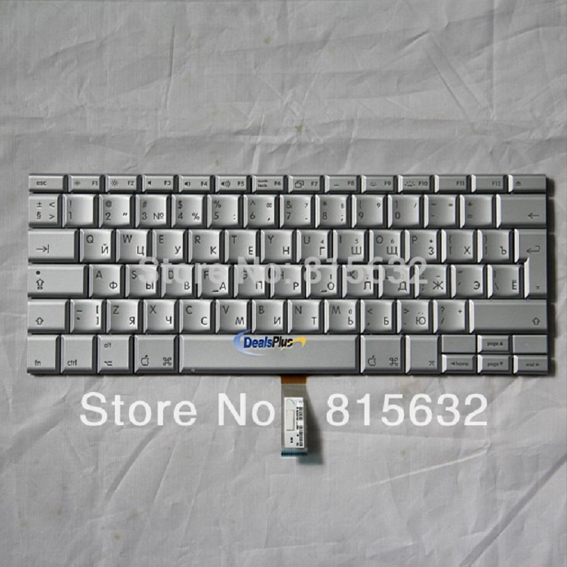 New FOR APPLE Macbook Pro 17 A1261 Keyboard RU Russian TECLADO,WHOLESALE ! new ru for lenovo u330p u330 russian laptop keyboard with case palmrest touchpad black