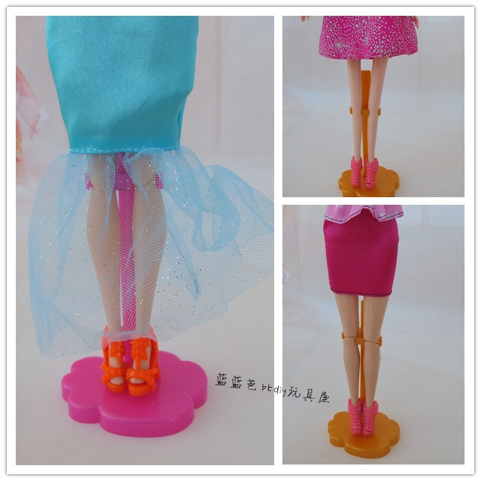 for Barbie doll stand three kinds of color plastic male and female dolls GM Accessories