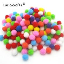Pompones coloridos de múltiples tamaños DIY muñecas ropa hecha a mano Material suave mullido pompones bola para DIY juguetes para niños accesorios J0602