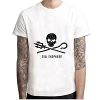 LEQEMAO Sea Shepherd T Shirt Men Print T Shirts Fashion Print T Shirts Short Sleeve O