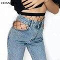Changla 2017 summer escavar sexy meia-calça feminina malha preto mulheres calças justas stocking meias arrastão fino clube festa meias