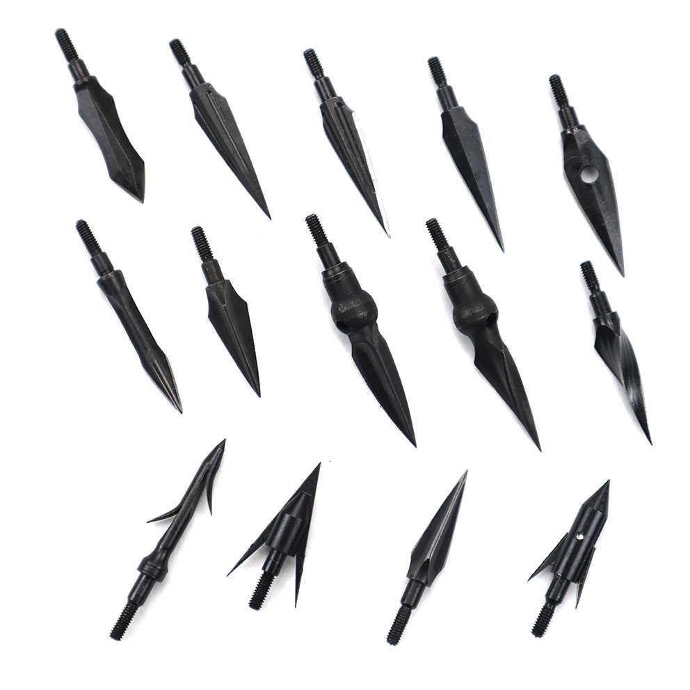1 個高炭素鋼矢印ブロードヘッドヒント矢印ポイントアーチェリー複合弓クロスボウ反らすの弓の狩猟