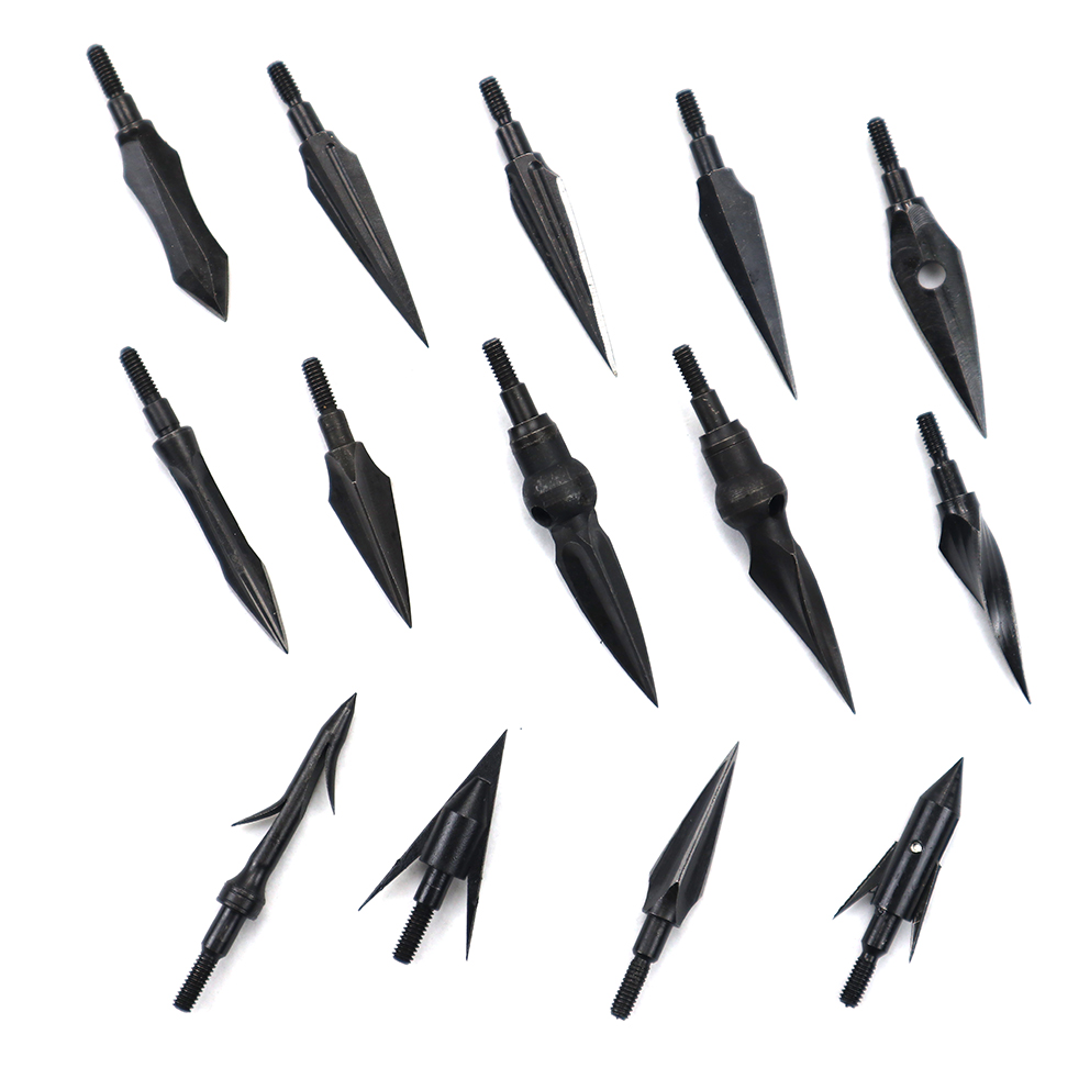 1pcs High Carbon Steel Arrow Head Broadhead Tips Arrow Point Archery Arrowheads For Compound Bow Crossbow Recurve Bow Hunting